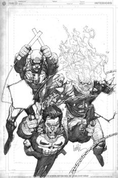 pencils of the comicbox cover by leinilyu