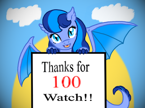 Azulei thanks for the 100th watch! by Eeveewhite97