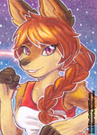 ACEO #37 - Ready to Fight by Amalika