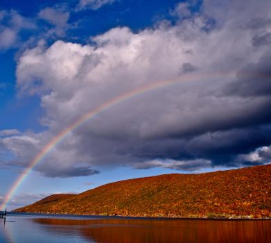 Rainbow over Canandaigua by LoverOfEveryone3133