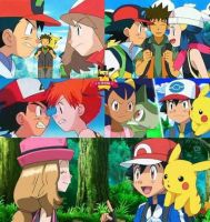 Ash is arguing with his friends not serena  by BlackOtakuZ