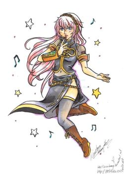 Vocaloid - Luka Collab by olivineteacup
