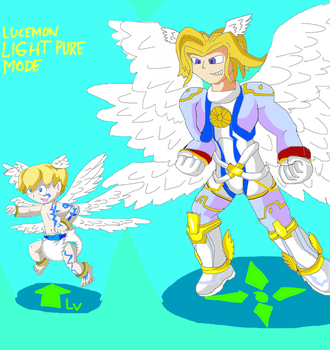 Baby Lucemon Good birth of pure light by pokeball012