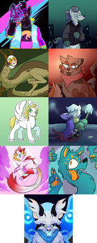 art fights 1-9 by a-cidic