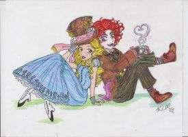 Alice + Mad Hatter by Kiyomi-chan16