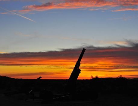M115  203mm howitzer at sunset by flatsix911