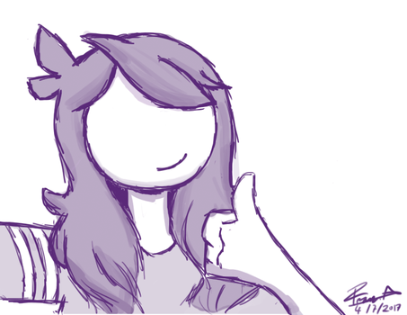 Jaiden Animations face reveal fan art :D by franciscoo03