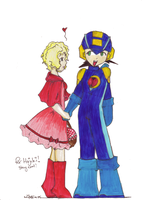 bb and megaman- 4 hajiki by witefire