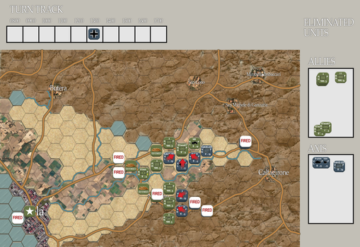 Wargame Map (Concept) - Gela, Sicily 1943 by FlyingKnight