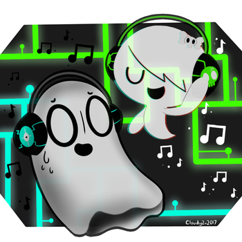 Carrie and Napstablook (remade) by CloudyZu