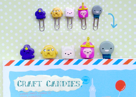 Polymer Clay : Adventure Time paper clips by CraftCandies