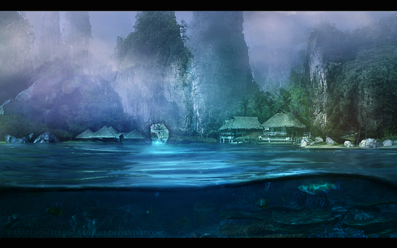 The cave of paradise by GeneRazART