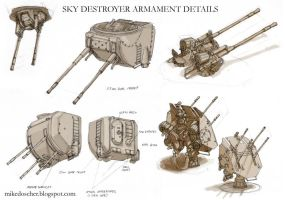 Sky Destroyer Armament Details by MikeDoscher