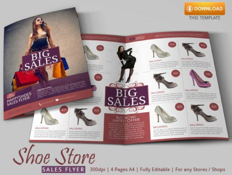 Shoe Store Flyer Template by BloganKids