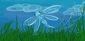 Dragonfly In Summer by etchedglass