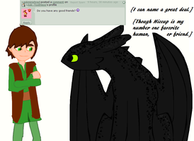 Ask Toothless 22: Best Friends? by Ask--Toothless