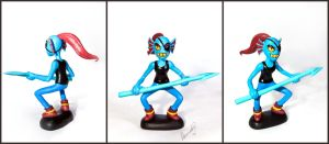 Undertale: Undyne Sculpture by Arnne