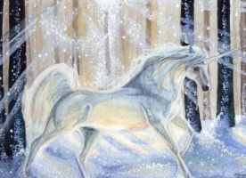ACEO - Snow Dancer by DawnUnicorn