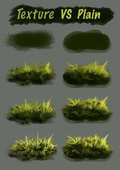 Texture Vs Plain Brush by Fievy