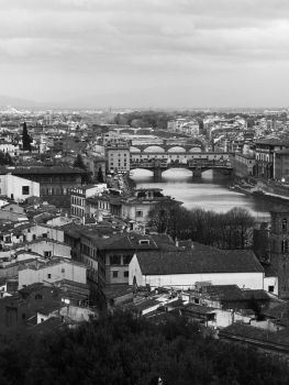 River flowing through Florence by PodiumPhoto