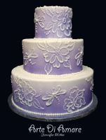 Brush Embroidery Cake by ArteDiAmore