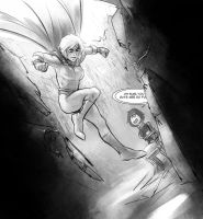 Powergirl and Terra by Psuede