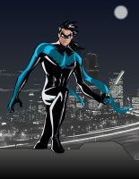 Comic Version of my Nightwing by RiderB0y