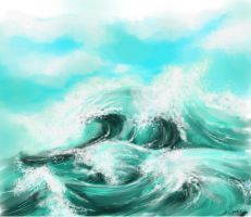 Waves and Clouds by simplySere