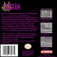 Majora's Mask [Game Boy] Box Back by BLUEamnesiac