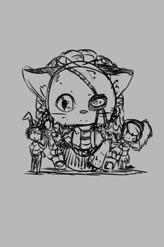 Another Doodle: Rengar WIP by Nipini