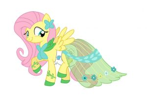 Padded Gala Dress Fluttershy by Hourglass-Sands