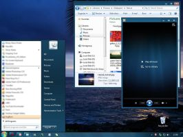 Windows 7 Basic Dark Blue by Kipet