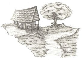house on a hill by Mishisho