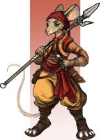 Character Design: Kayla - Spearmouse by TheLivingShadow