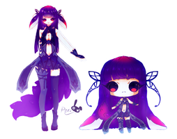 Dark Butterfly Adopt [CLOSE] by Rezo-Bunny-Adopt