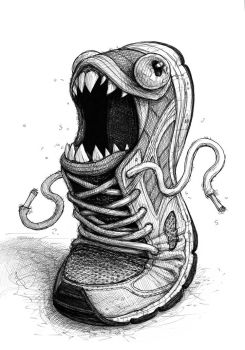 Jogging shoe monster by IsidorSwande