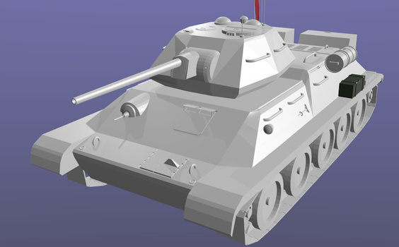 3D T-34 by Mobius6492