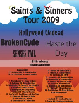 Saints and Sinners Tour Flyer by flower-child88