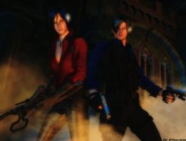 Resident evil wallpaper Leon and Ada by ethaclane