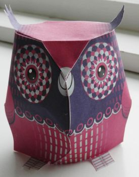 Pink and Purple Owl by anniet1234