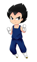 Commission: Vegeta by leeniej