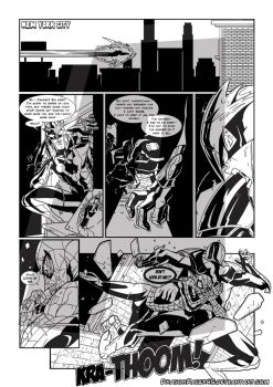 Marvel zombies Test Page INK by DragonRacer45