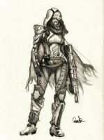 Guardian of Destiny - Female Hunter by Granados101