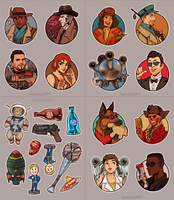 Fallout 4 Stickers by Momo-Deary