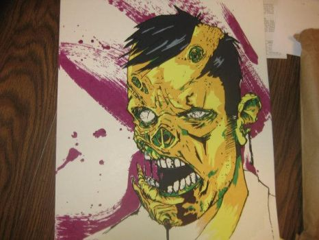 Zombie screen print by AFXtuming