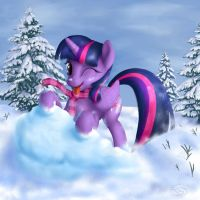 Playful Smarts at the snow by blueSpaceling