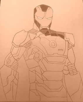 Iron Man (unfinished) by Shooter94