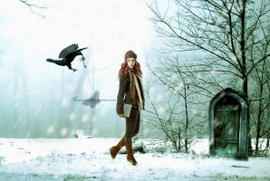 The Crow The girl and The Door by maiarcita