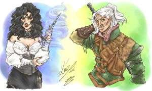 The Witcher and The Witch by sarumanka
