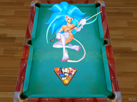 Felicia at the Pool Table by NekoHybrid